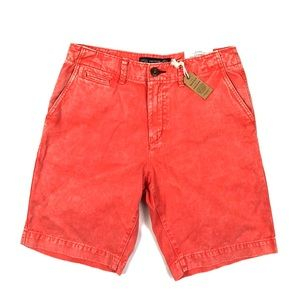 American Eagle Faded Red Front Shorts Men's Sz 30